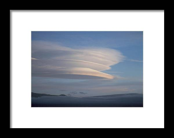 Lenticular Cloud Framed Print featuring the photograph Stack Of Lenticular Clouds Over Mauna Kea, Hawaii by Magrath Photography