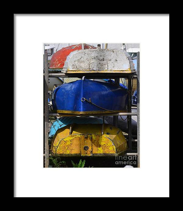 Boats Framed Print featuring the photograph Stacked Trio Of Colors by Rene Triay Photography