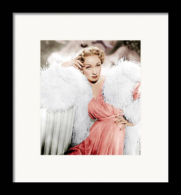1950 Movies Framed Print featuring the photograph Stage Fright, Marlene Dietrich Wearing by Everett