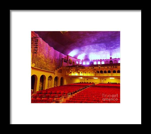 Framed Print featuring the photograph Stage Left Orpheum by Vicki Lomay