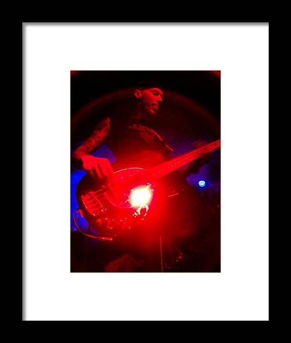 Steve Perlmutter Star Killer Guitar Music Framed Print featuring the photograph Stage Presence by Kay McLaren