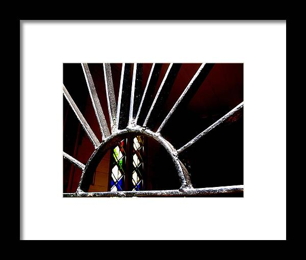 Iron Framed Print featuring the photograph Stained Glass Sun by Lee Versluis