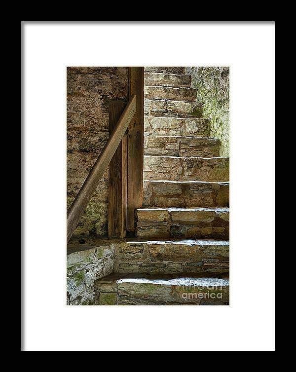 Learning Framed Print featuring the photograph Stair Light by John Greim