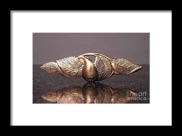 Pears Framed Print featuring the jewelry Stampings 24 by Dwight Goss