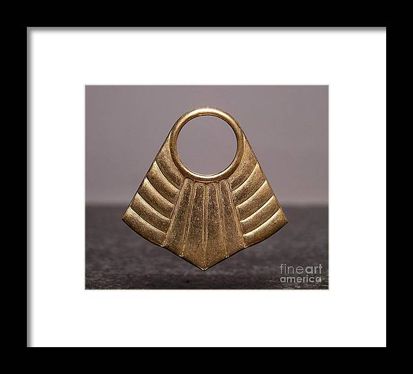 Art Deco Jewelry Framed Print featuring the jewelry Stampings 33 by Dwight Goss
