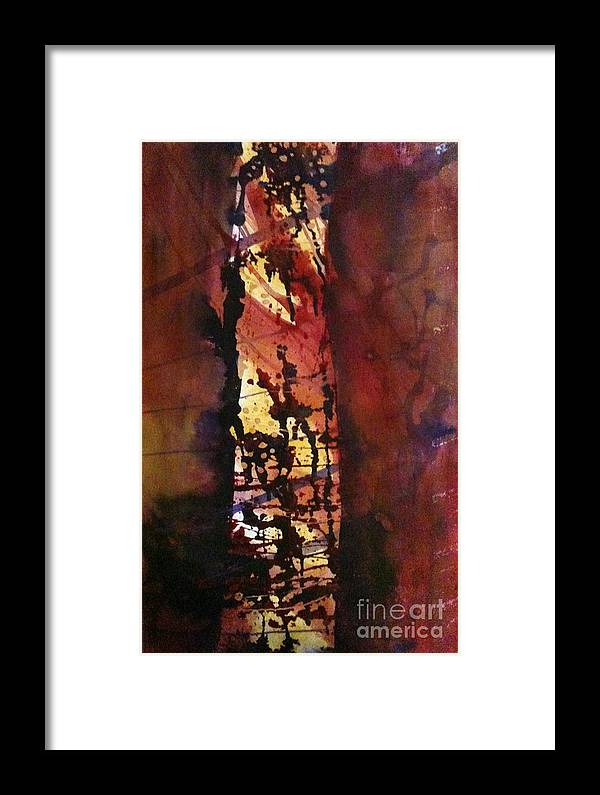 Landscape Framed Print featuring the painting Standing Alone by Holly Suzanne