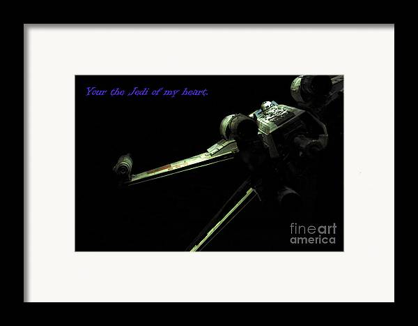 Star Wars Framed Print featuring the photograph Star Wars Card by Micah May
