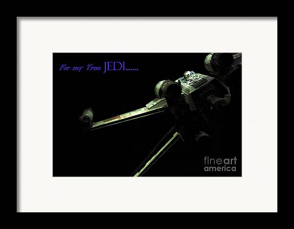 Star Wars Framed Print featuring the photograph Star Wars Jedi Card by Micah May
