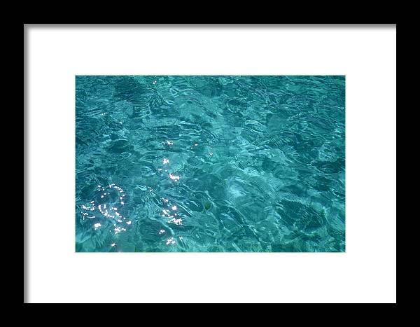 Ocean Framed Print featuring the photograph Starry Surface by Dan Rabinovch