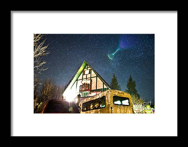 Indian Head Mt Framed Print featuring the photograph Stars Over Pow Wow by Ryan Rhy-Kno Kulpa