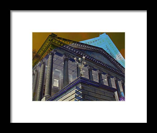 Digital Framed Print featuring the digital art Statehouse by Michele Caporaso