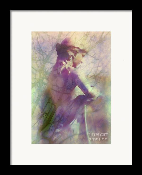 Statue Framed Print featuring the photograph Statue In The Garden by Judi Bagwell