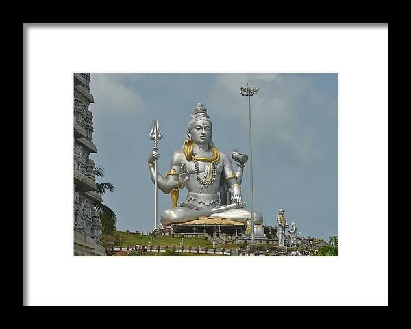 Panasonic Framed Print featuring the photograph Statue of Lord Shiva at Murudeshwara by Sandeep Gangadharan