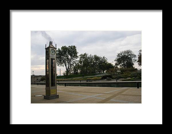Landscape Framed Print featuring the photograph Steam Clock by Cory Best