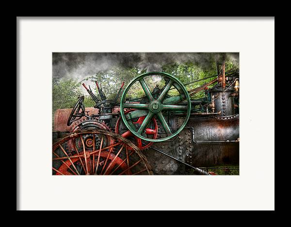 Steampunk Framed Print featuring the photograph Steampunk - Machine - Transportation Of The Future by Mike Savad