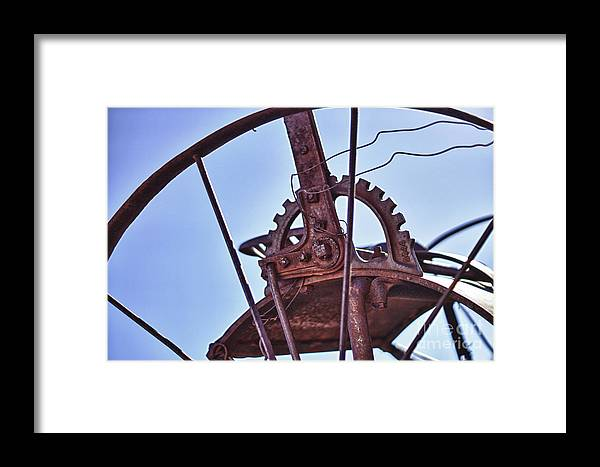 Wheel Framed Print featuring the photograph Steel Wheel by Jeremy Linot
