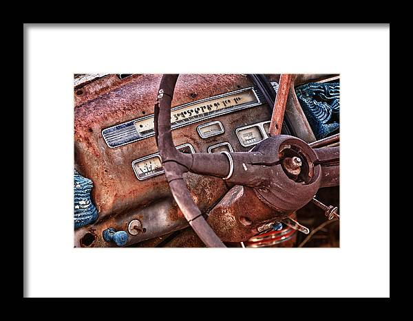 Cheyenne Framed Print featuring the photograph Steering Wheel by Richard Steinberger