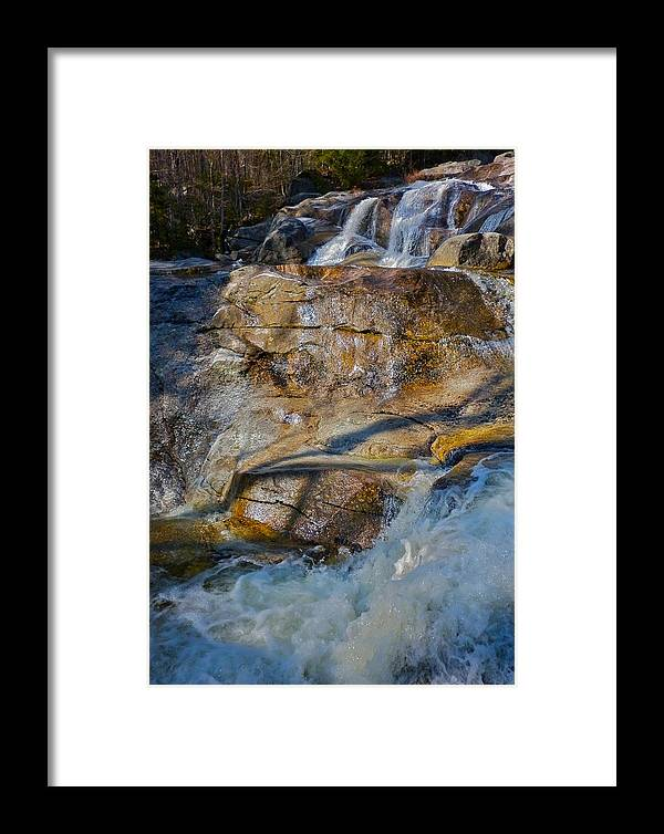 Landscape Framed Print featuring the photograph Step Falls In Soft Light by George Ramos