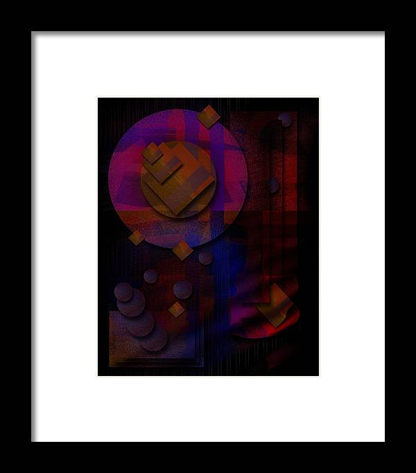 Stern Framed Print featuring the digital art Sternschnuppen - Falling Stars by Mimulux patricia No