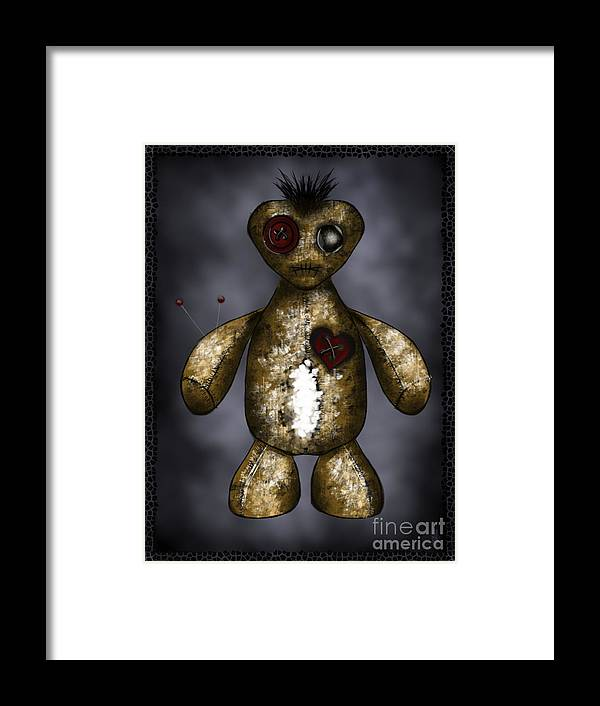 Voodoo Doll Framed Print featuring the digital art Stick A Pin In It by J Kinion