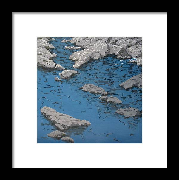 Water Framed Print featuring the painting Still Waters by S Josephine Weaver