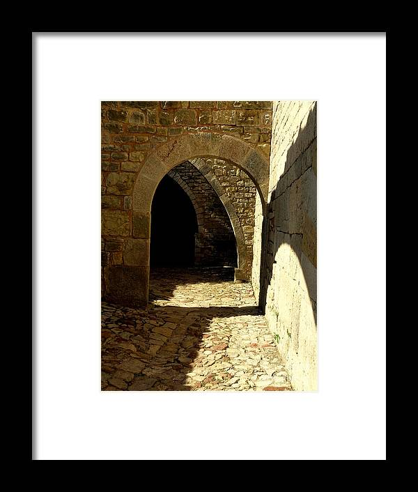 Spiritual Framed Print featuring the photograph Stone And Shadows by Lainie Wrightson