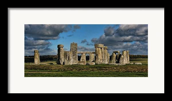 Stonehenge Framed Print featuring the photograph Stonehenge by Heather Applegate