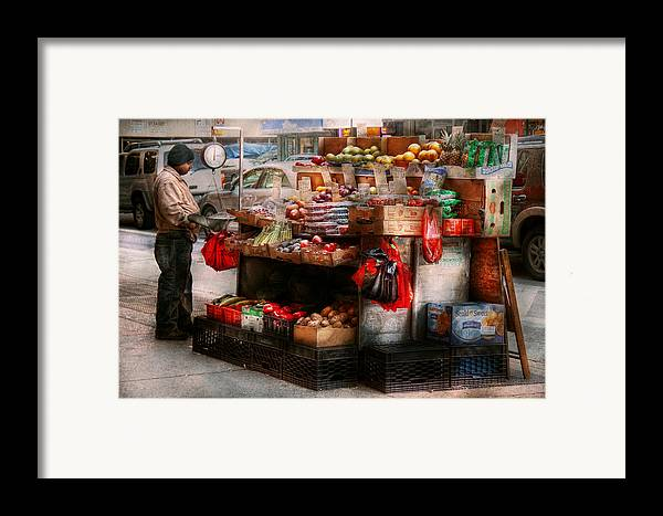 Chelsea Framed Print featuring the photograph Store - Ny - Chelsea - Fresh Fruit Stand by Mike Savad