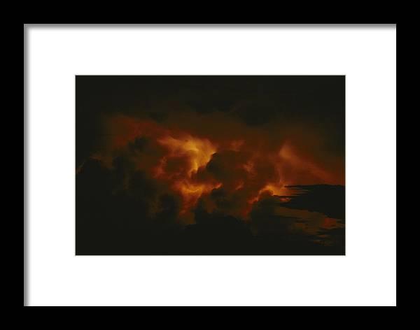 lake Tanganyika Framed Print featuring the photograph Storm Clouds Over Lake Tanganyika by Michael Nichols
