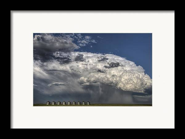 Prairie Framed Print featuring the photograph Storm Clouds Thunderhead by Mark Duffy