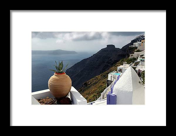 Greece Framed Print featuring the photograph Storm near Santorini by John Banegas