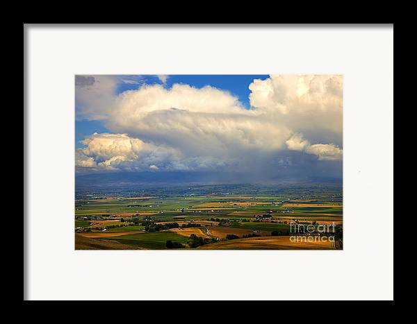 Kittitas Valley Framed Print featuring the photograph Storm Over The Kittitas Valley by Mike Dawson