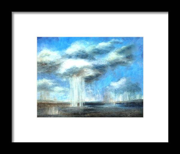 Art Print Framed Print featuring the painting Storm's A Comin' by Lisa Masters