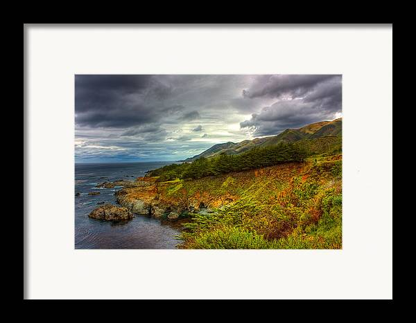 California Framed Print featuring the photograph Stormy Coast by Matt Trimble