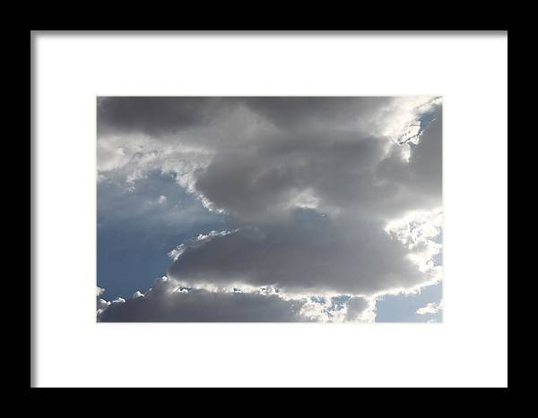 Storm Clouds Framed Print featuring the photograph Stormy by Kathleen Nash