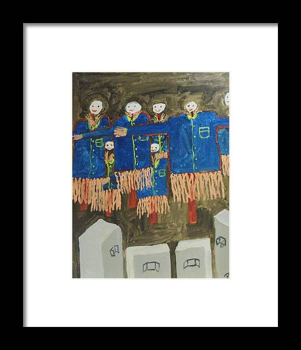 Free Art Framed Print featuring the painting Straw Men by Rahul narasimhan
