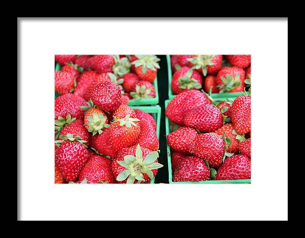 Background Framed Print featuring the photograph Strawberries by Kim French