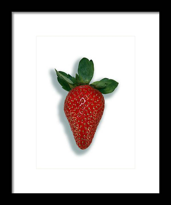 Fragaria Sp. Framed Print featuring the photograph Strawberry by Linda Wright