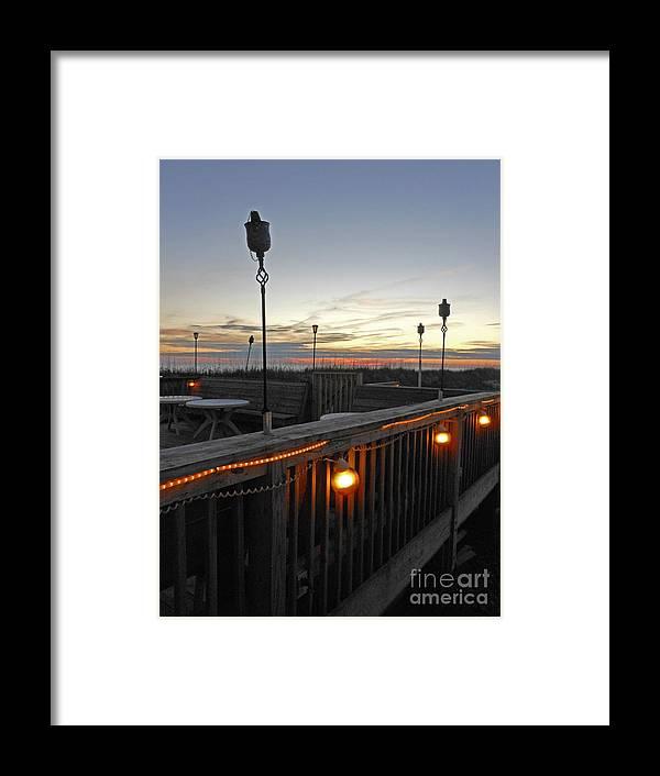 Oak Island Beach Framed Print featuring the photograph Streaks of Orange by Beebe Barksdale-Bruner