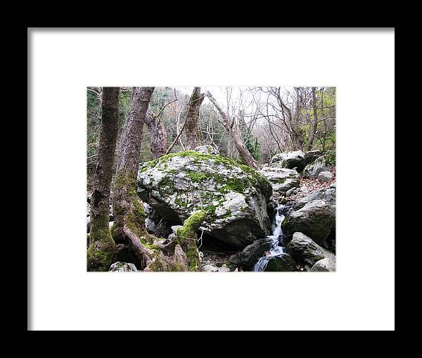 Framed Print featuring the photograph Skotina Springs by Andonis Katanos