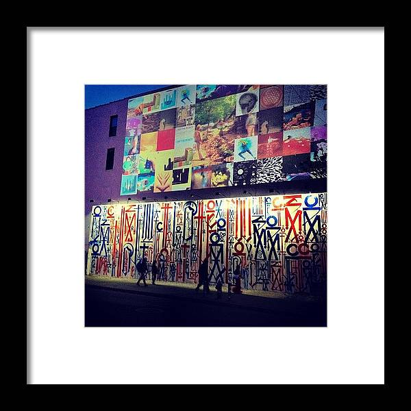 New York City Framed Print featuring the photograph Street Art - Lower East Side - New York City by Vivienne Gucwa