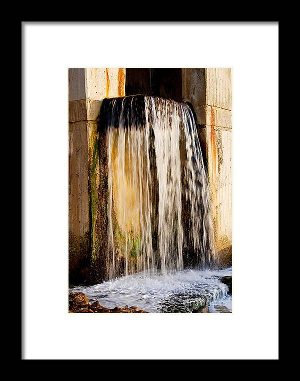 Water Fall Framed Print featuring the photograph Street Falls by Baywest Imaging