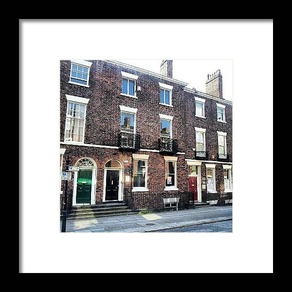 Androidcommunity Framed Print featuring the photograph #street #houses #liverpool #buildings by Abdelrahman Alawwad