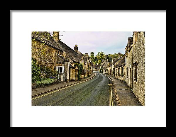 Castle Combe Framed Print featuring the photograph Street In Castle Combe by Jon Berghoff