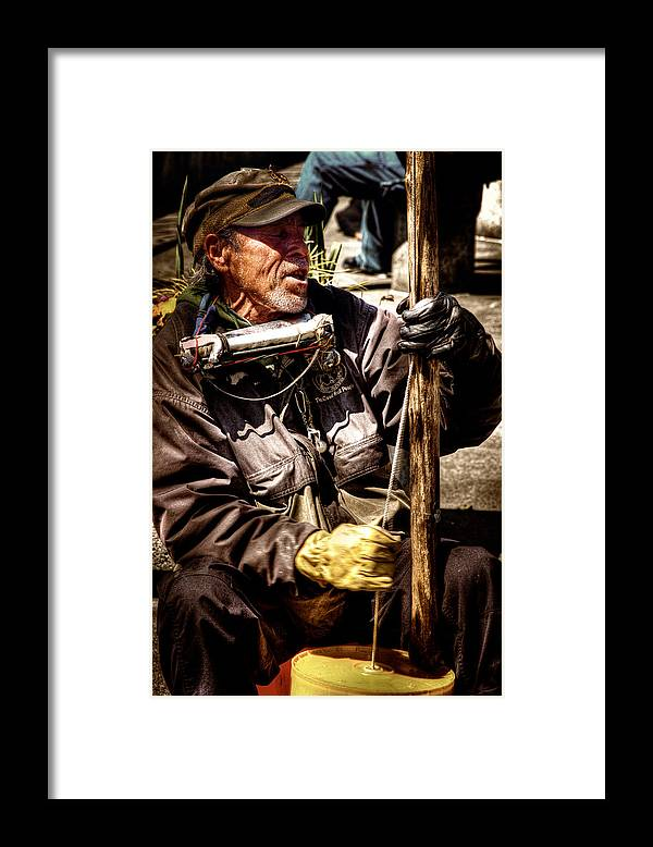 Street Musician Framed Print featuring the photograph Street Symphony by David Patterson