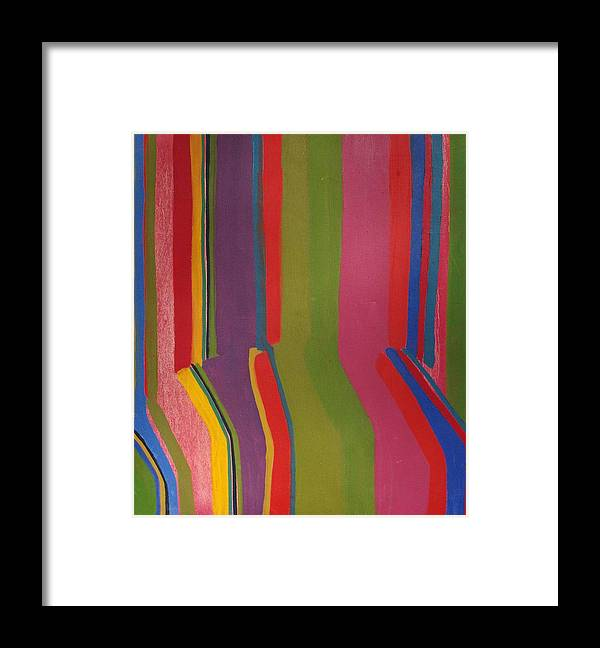 Stripes Framed Print featuring the painting Stripes by Rick Ahlvers