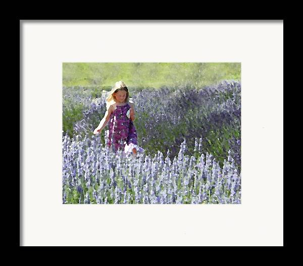Lavender Framed Print featuring the photograph Stroll Through The Lavender by Brooke T Ryan