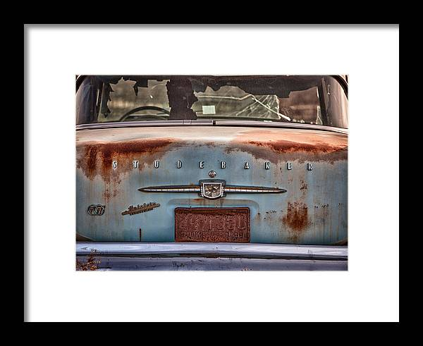 Cheyenne Framed Print featuring the photograph Studebaker by Richard Steinberger