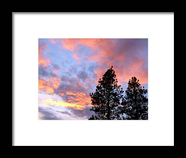 Sunset Framed Print featuring the photograph Stunning Spring Sky by Will Borden