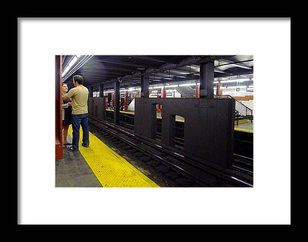 Subway Framed Print featuring the photograph Subway Chat by Frank Winters